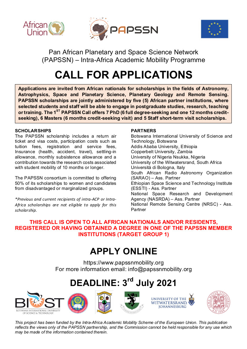 PAPSSN Call for Applications
